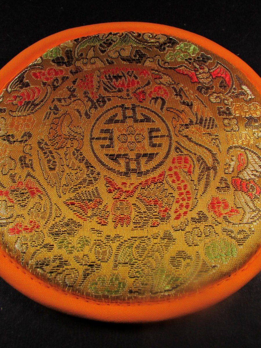 14cm Brocade singing bowl cushion mat - SBC161