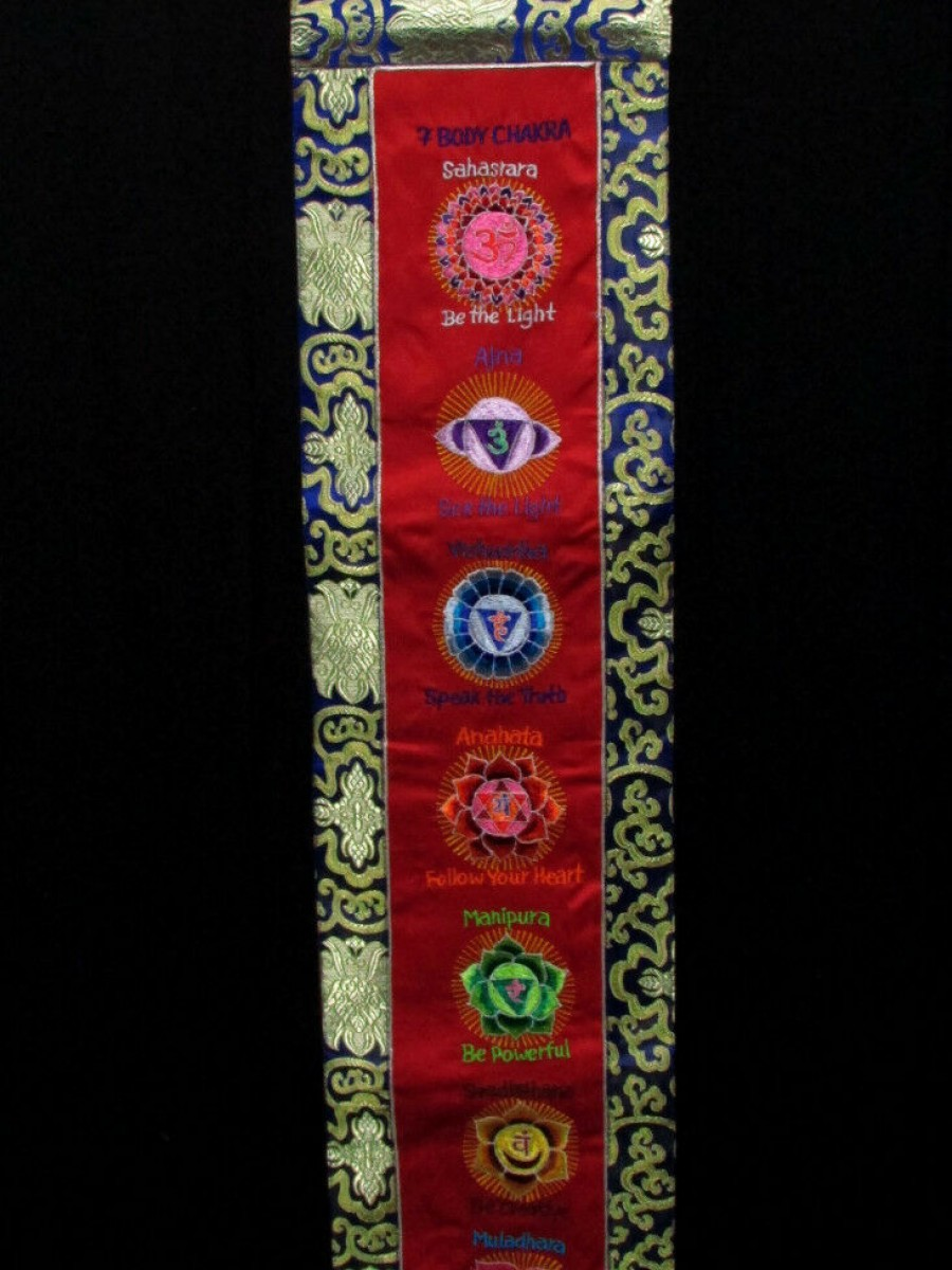 7 Body Chakra Embroidered Thanka - Th193