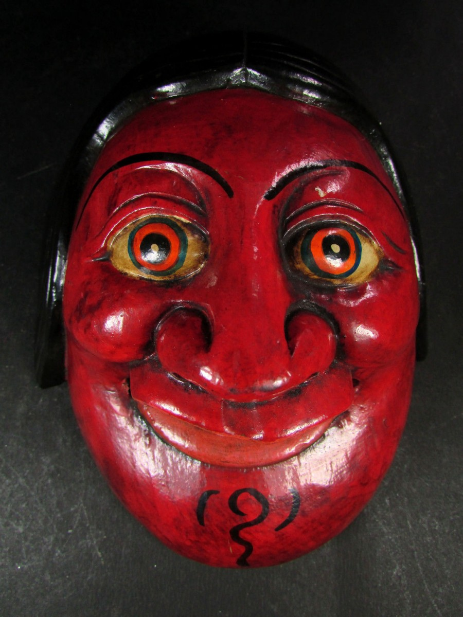Asian Joker Mask Wall Hanging - M335
