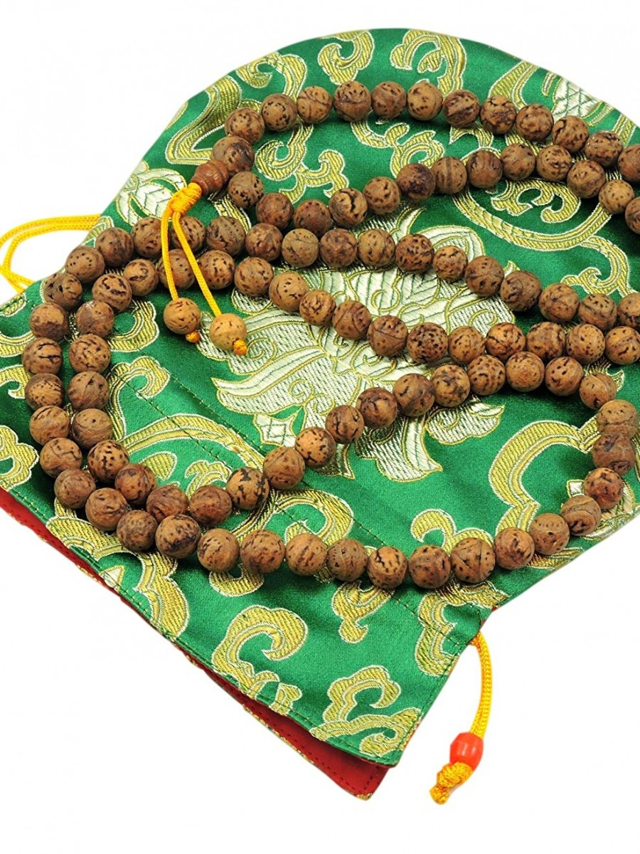 Bodhi Seed Mala 108 Beads for Meditation from Bodh Gaya India  - Mala01
