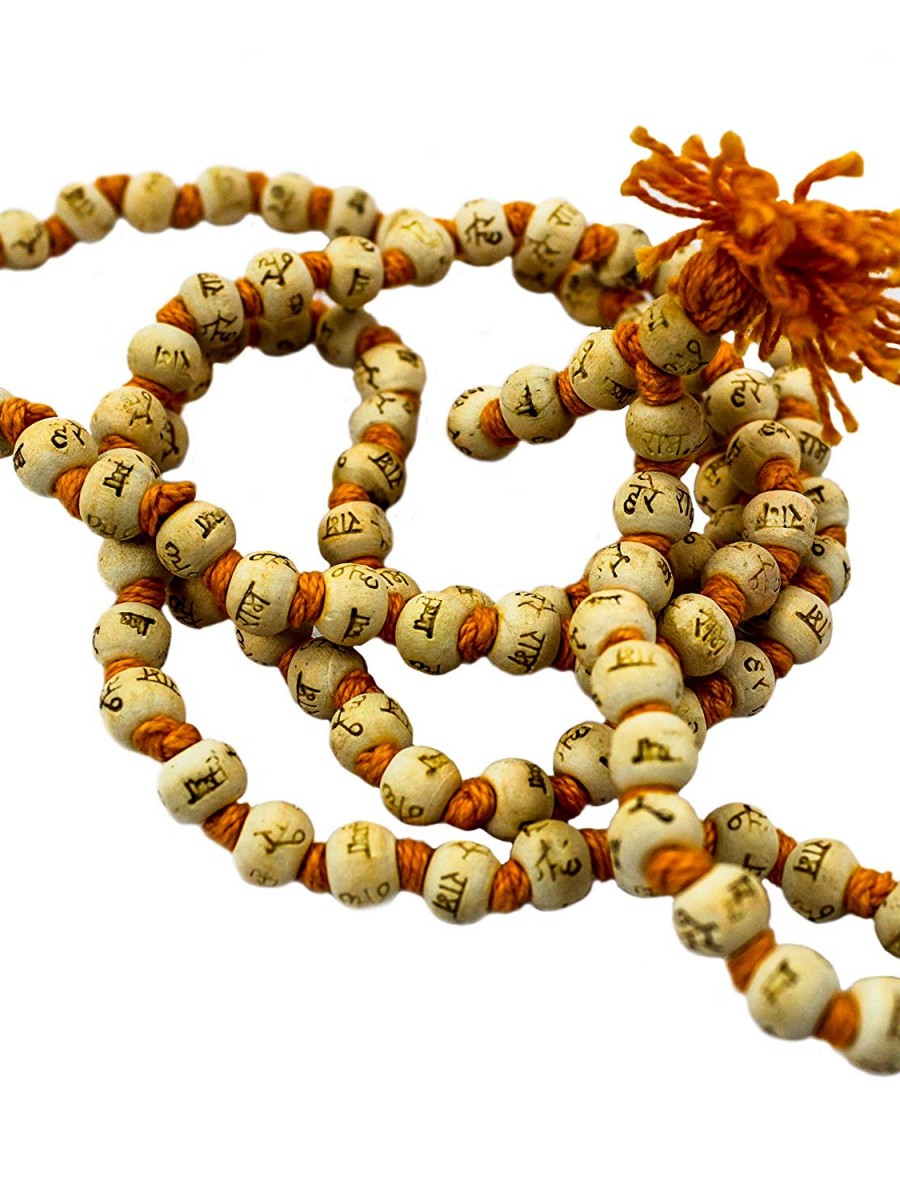 Bodhi Seed Mala 108 Beads for Meditation from Bodh Gaya India - Mala02