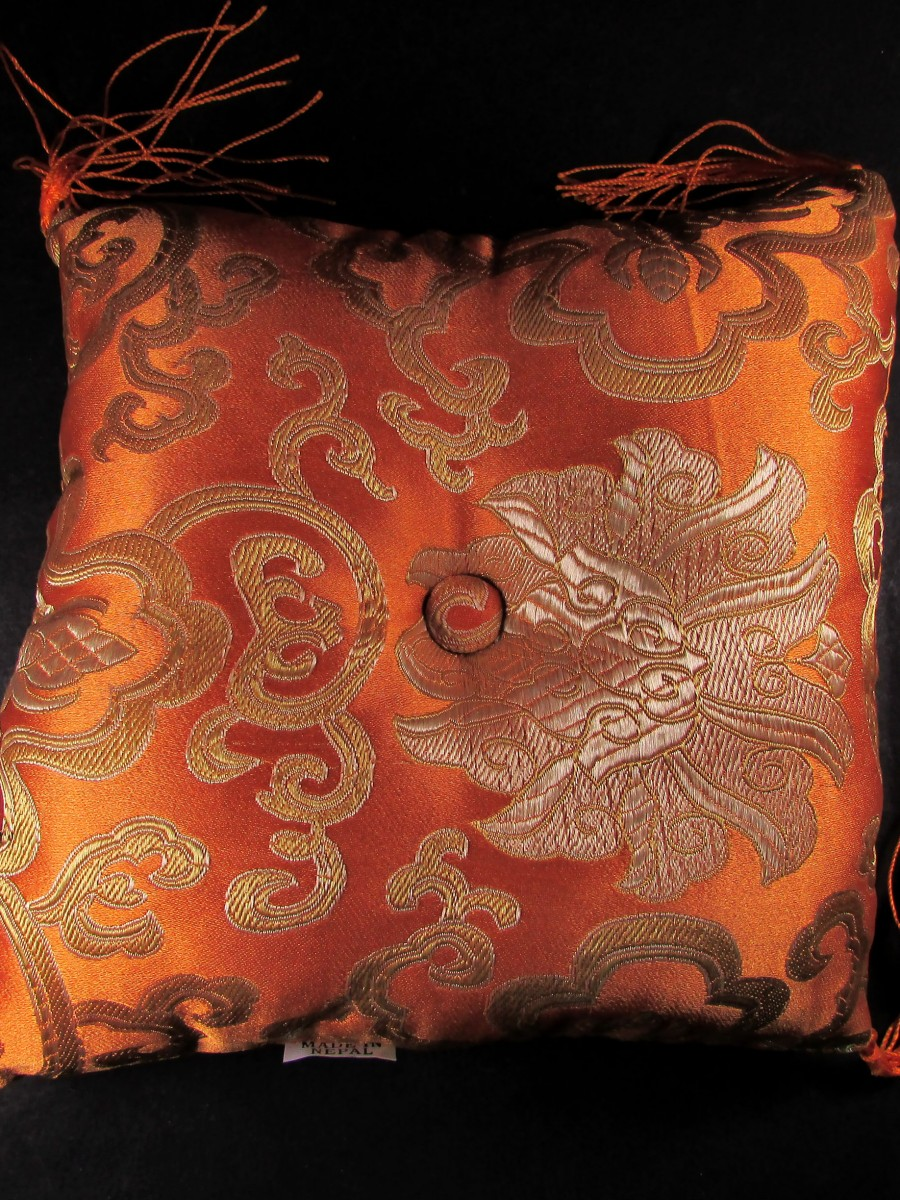 "Brocade 6.5"" singing bowl cushion pillow - SBC151"