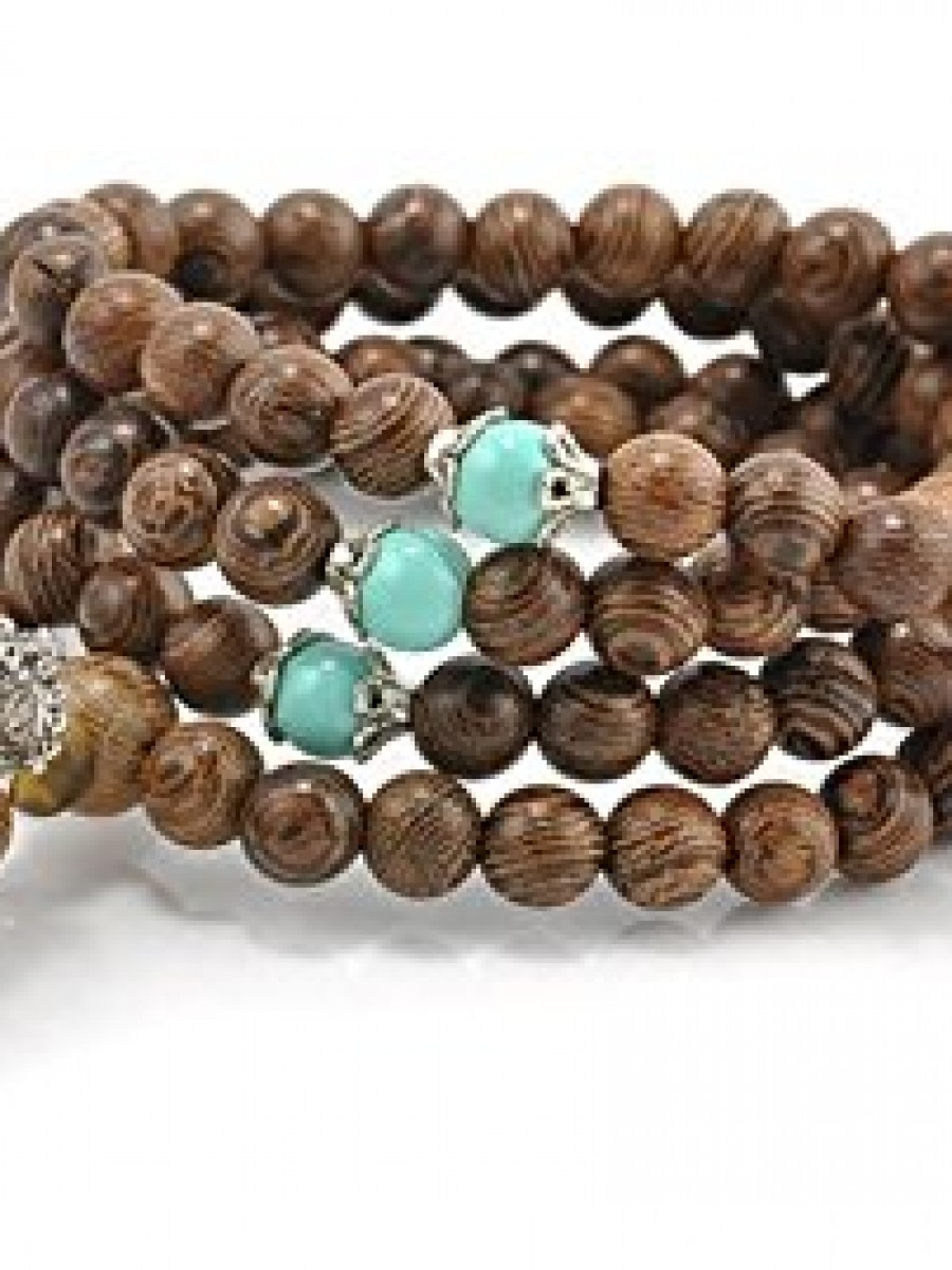 Brown Buddhist Bodhi Prayer Bead Mala/Bracelet/Necklace - Mala03