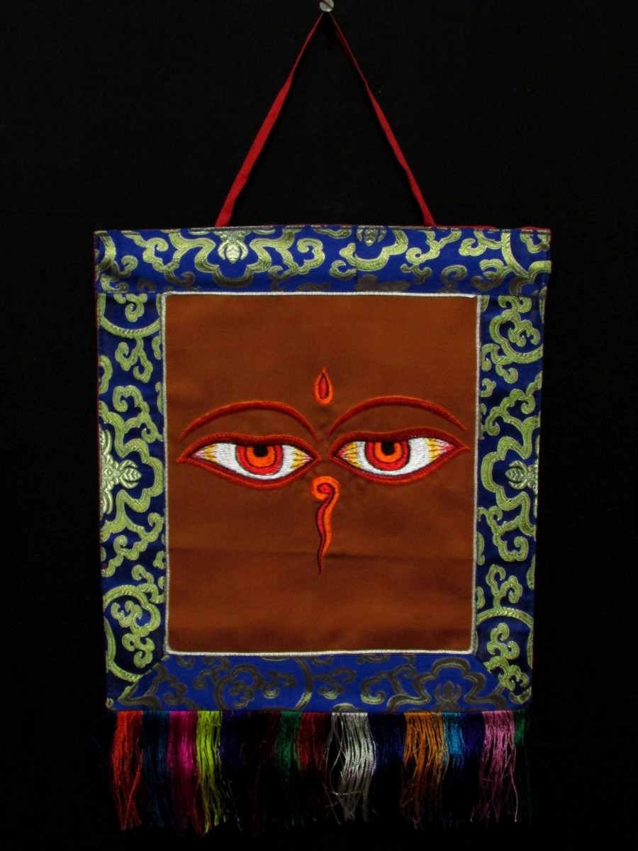 Buddha Eye Embroider Hanging Thanka - Th223