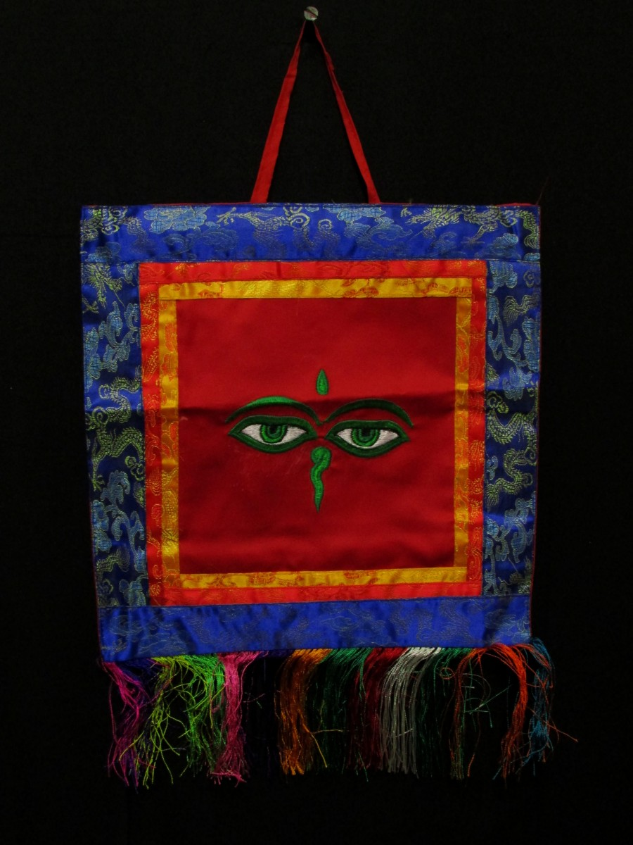 Buddha Eye Embroidered Hanging Thanka - Th75