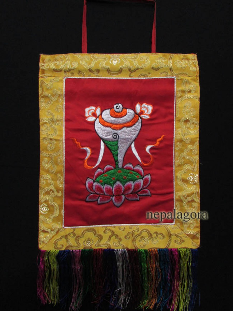 Conch Embroidery Thanka Wall Hanging - Th140