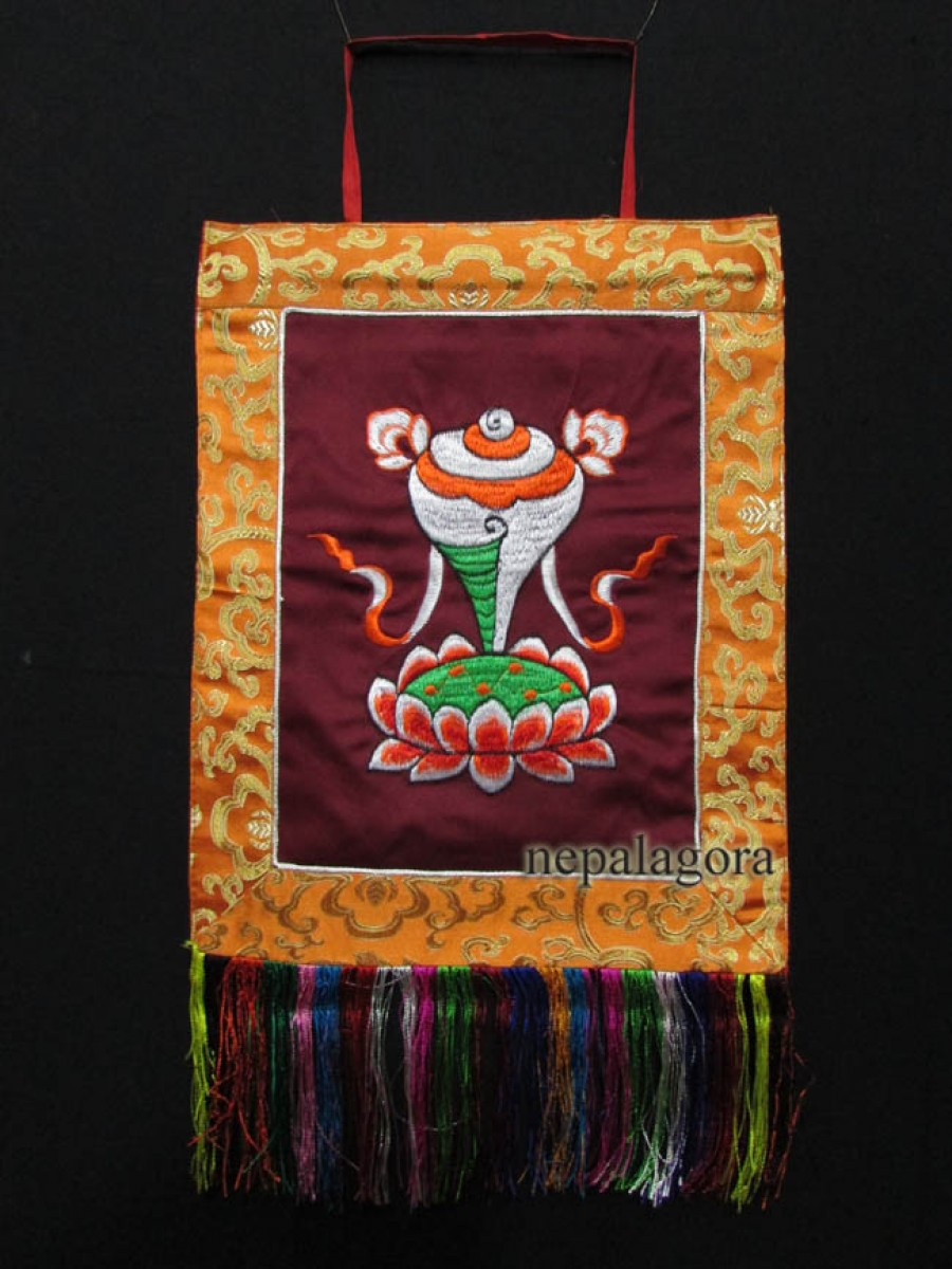 Conch Embroidery Wall Hanging Thanka - Th141