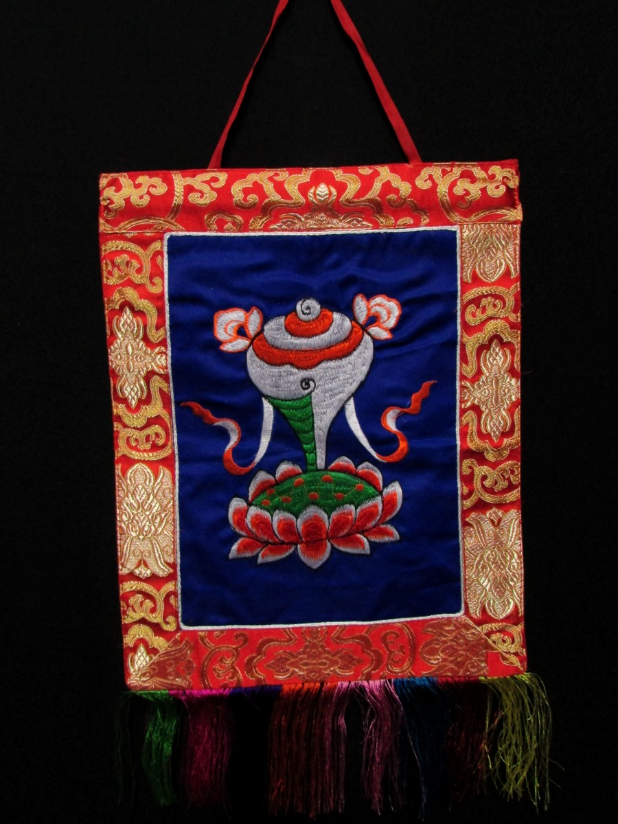 Conch Embroidery Wall Hanging Thanka - Th145