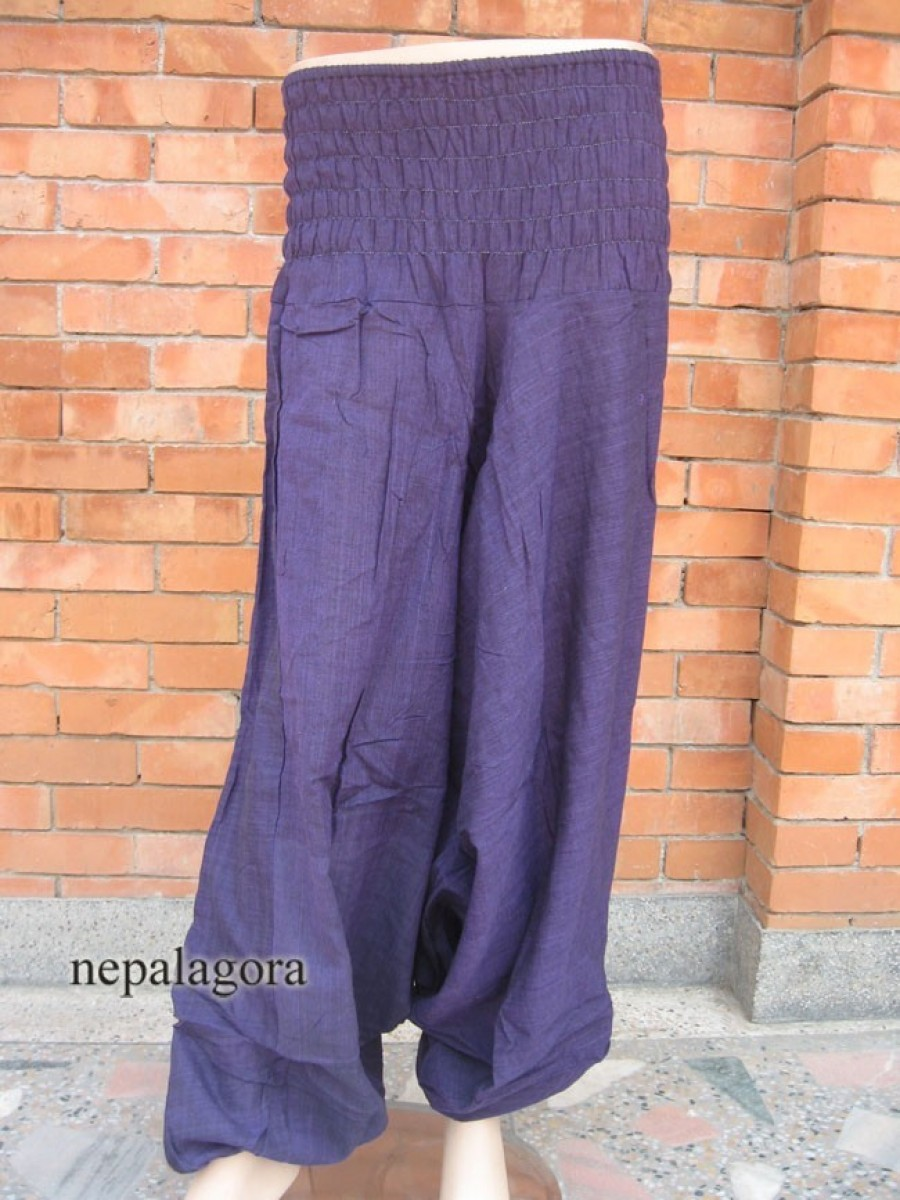 Cotton Aladdin Purple Harem TROUSER - Tr232
