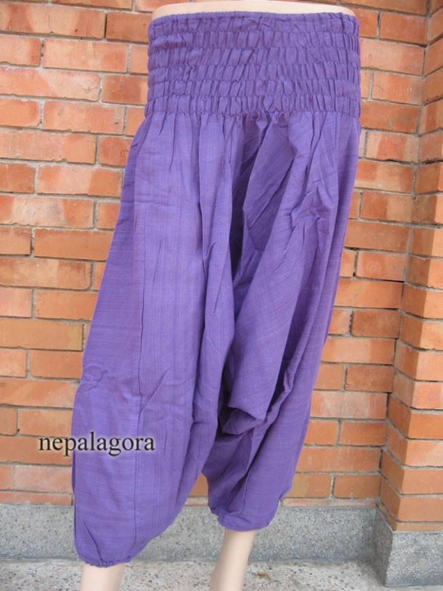 COTTON ALADDIN Purple Pant TROUSER - Tr235