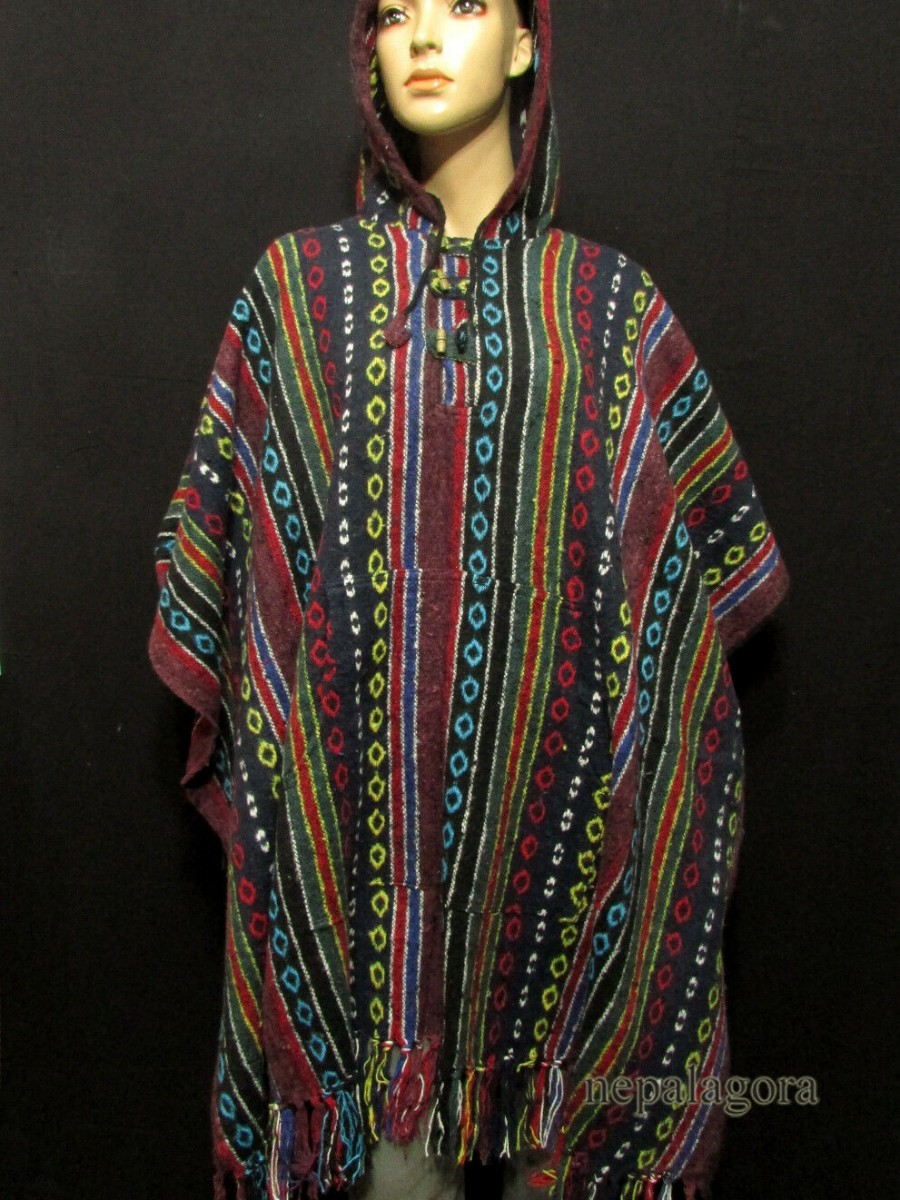 Cotton Gheri Pullover Poncho Jacket - P11
