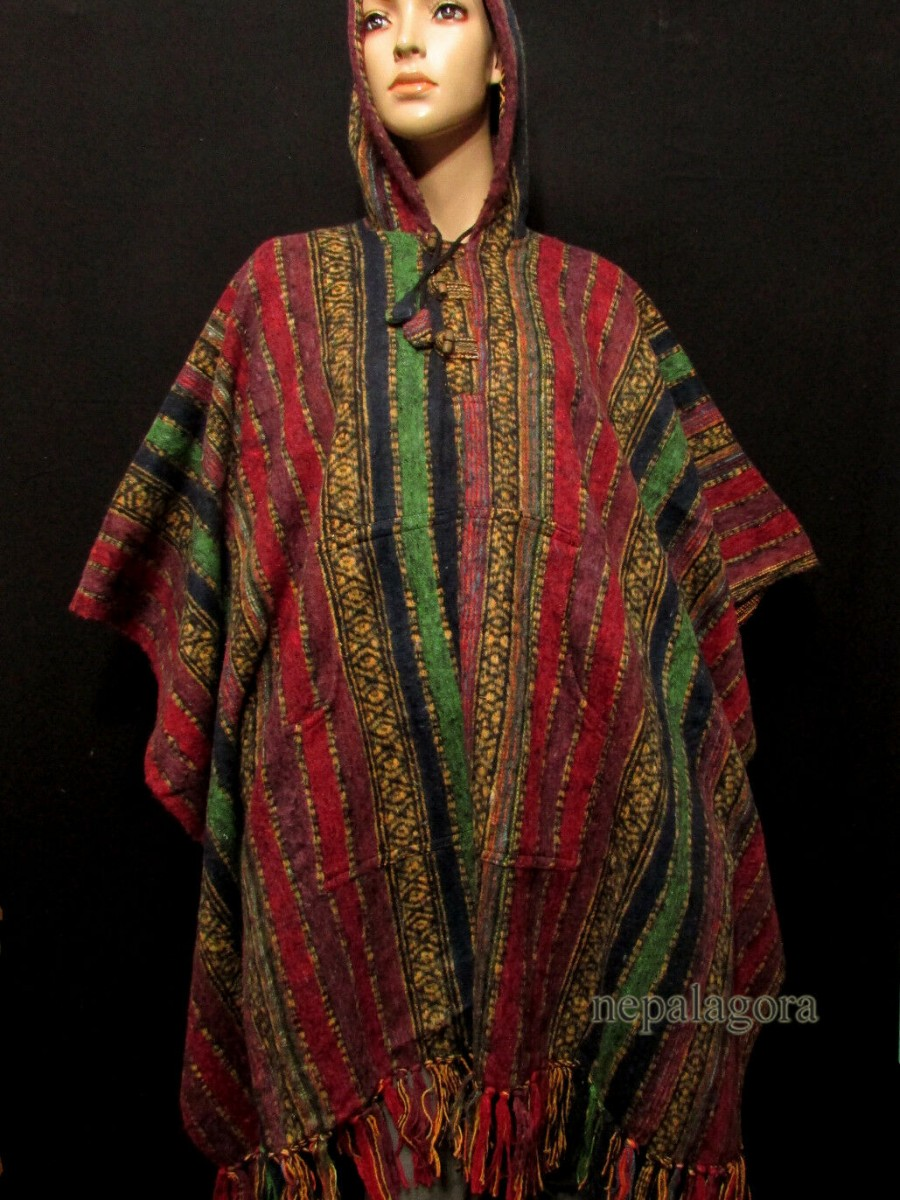 Cotton Gheri Pullover Poncho Jacket - P9