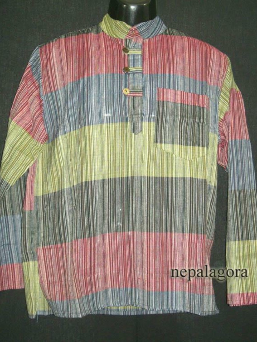 Cotton Multi Color Stripe Shirt - Sh874 M