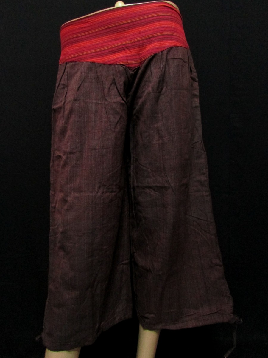 Cotton Quarter Brown PANT TROUSER - Tr252
