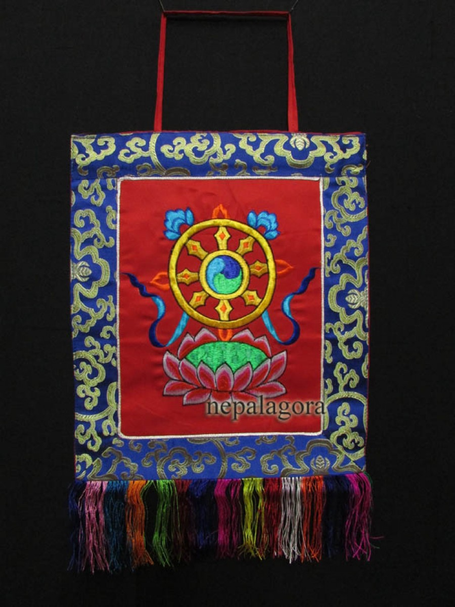 Dharmachakra Embroider Hanging Thanka - Th155