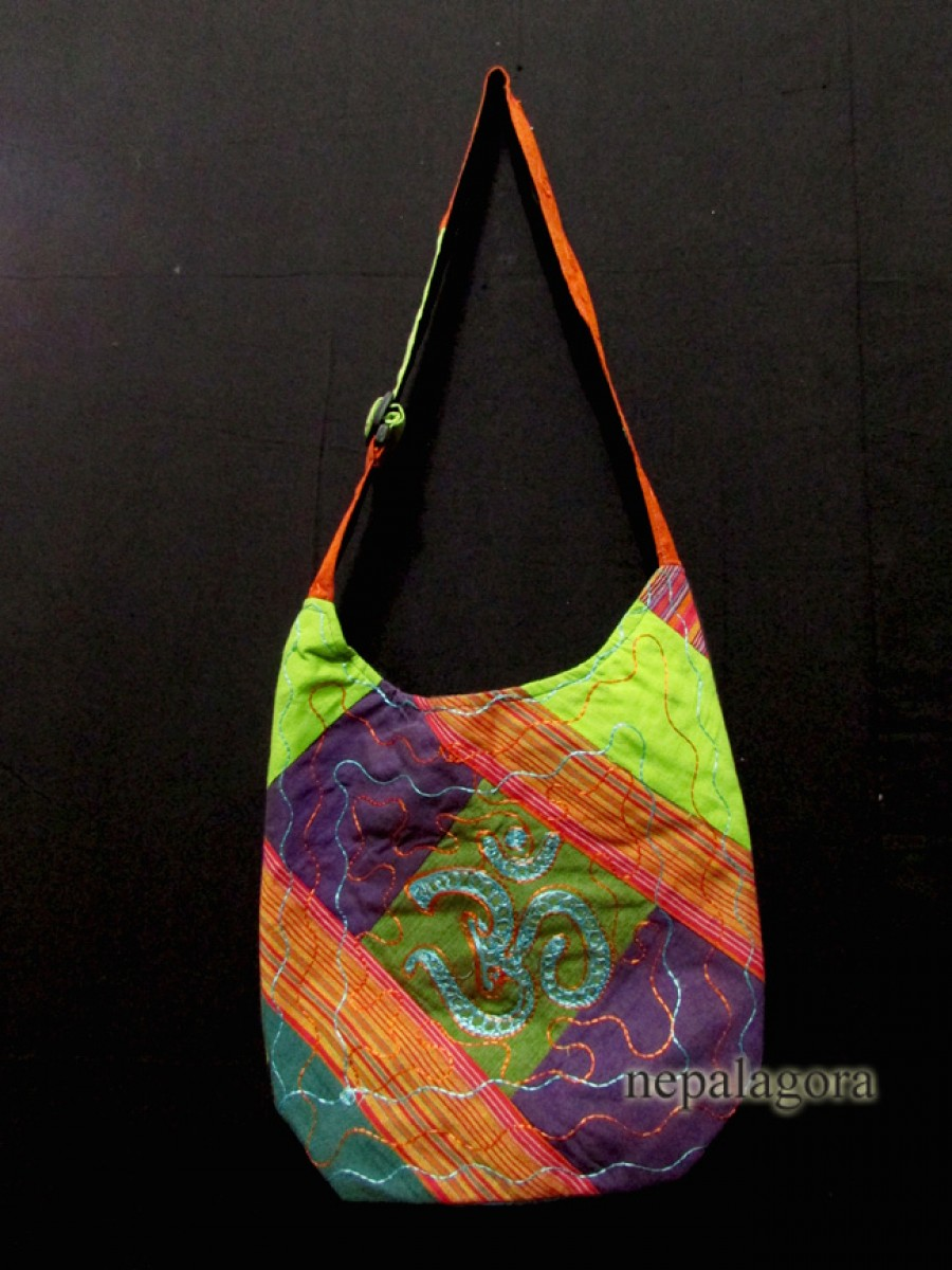 Embroidery patched Shoulder bag Nepal - Bag121