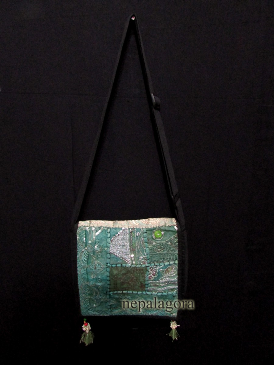 Embroidery patchwork sling tote banjara bag - B11
