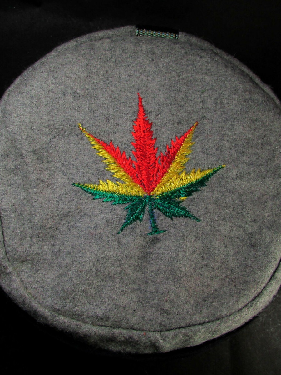 Ethnic Hemp Leaf Embroidery Cap
