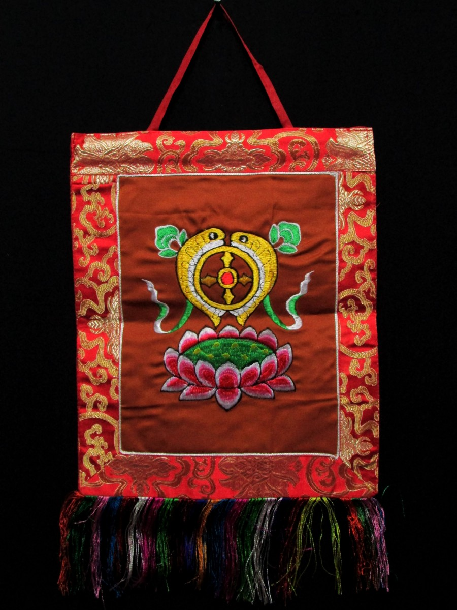 Fish Embroidered Wall Hanging Thanka - Th163