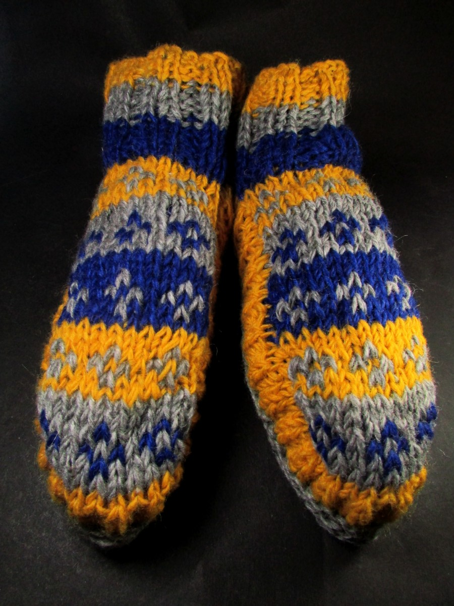 Handknitted Wool inner fleece Socks Shoe - So37