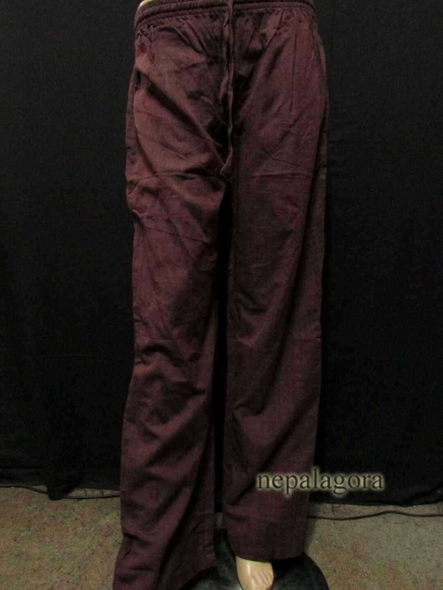 Handloom Cotton Brown Unisex Trouser  - Tr494 XL