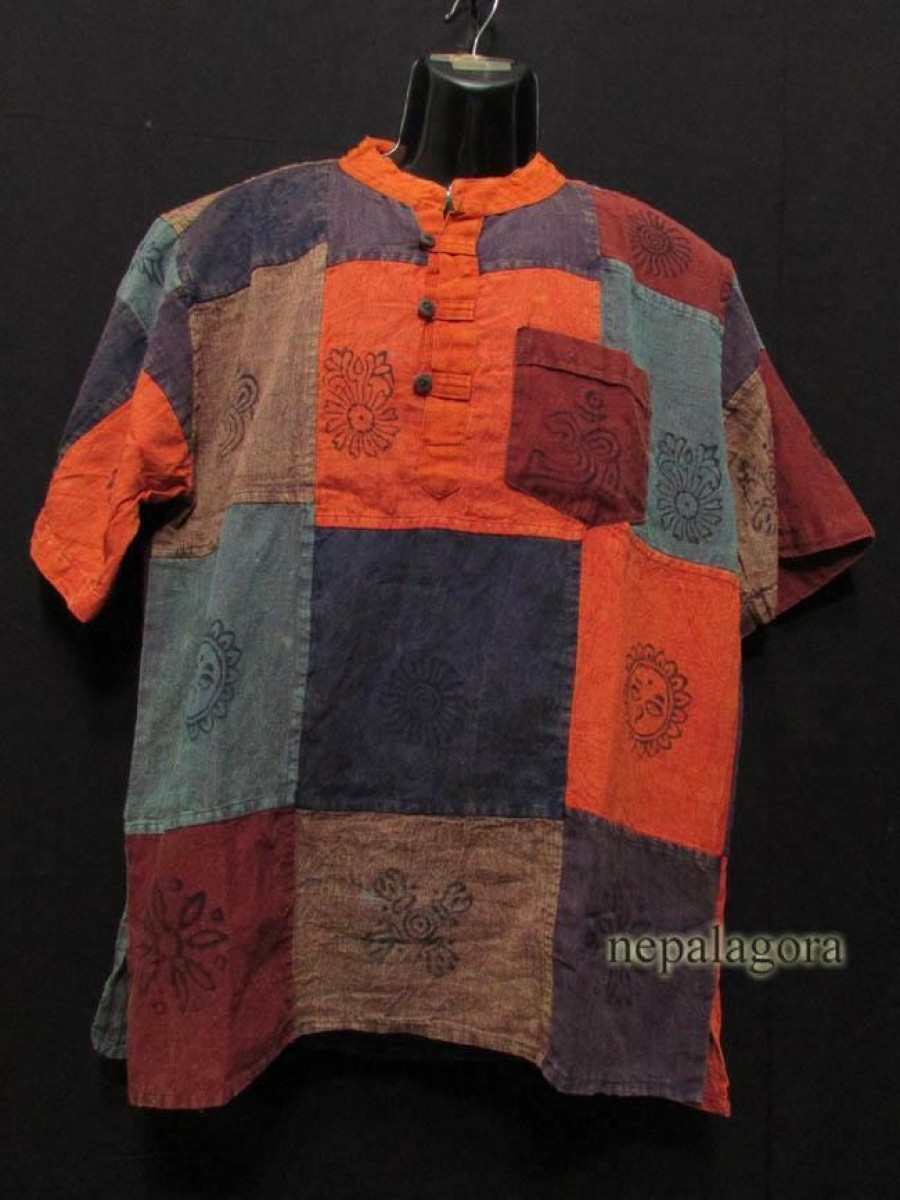 Handloom Cotton Multicolor Shirt - Sh942 XL