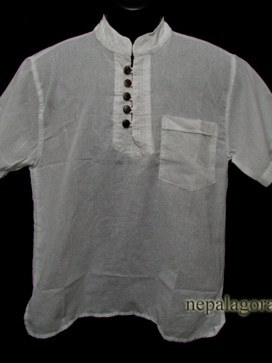 Handloom Cotton Unisex Meditation Shirt - Sh983 M