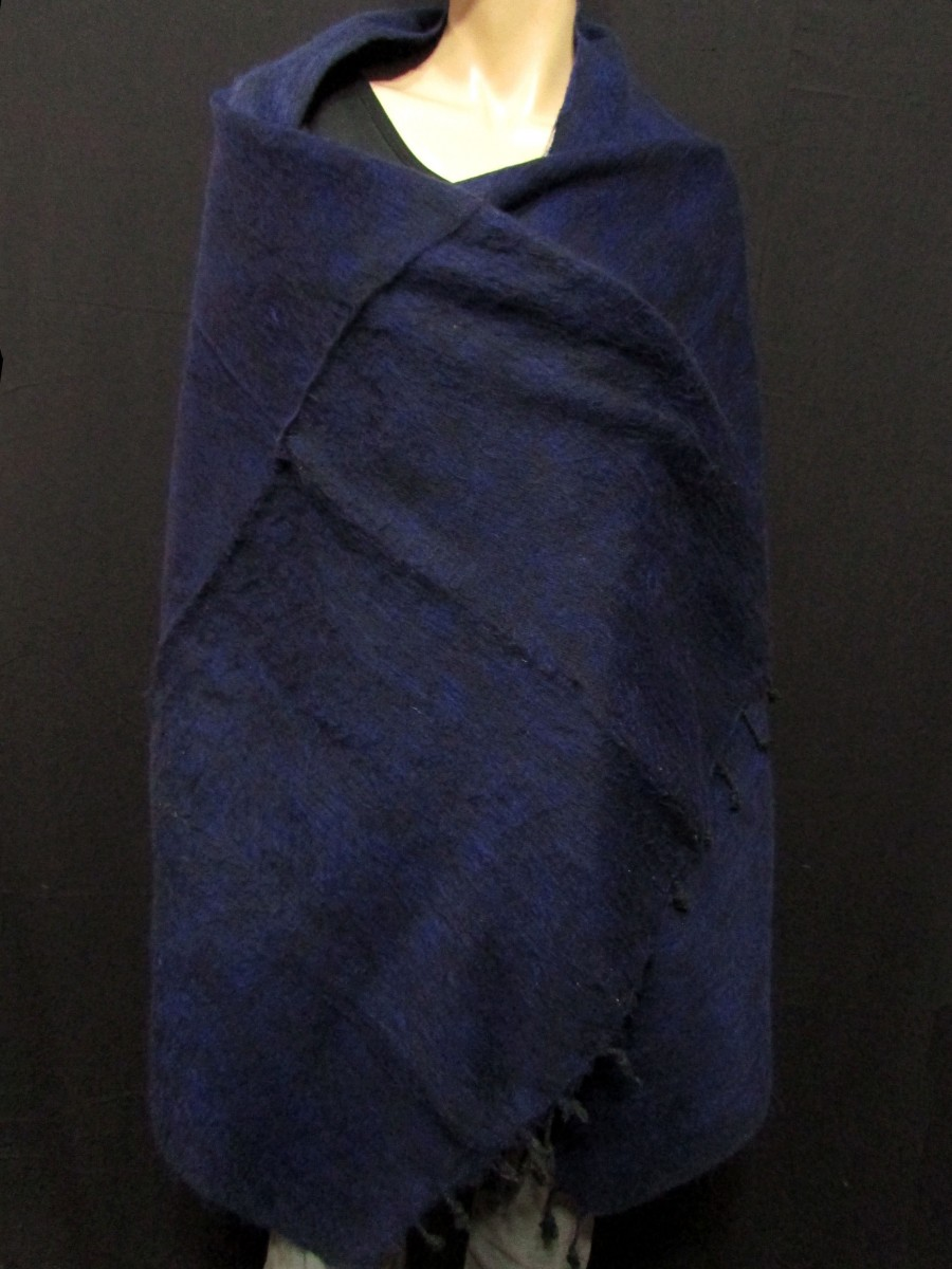 Handloom yak wool stole reversible shawl - Sw191
