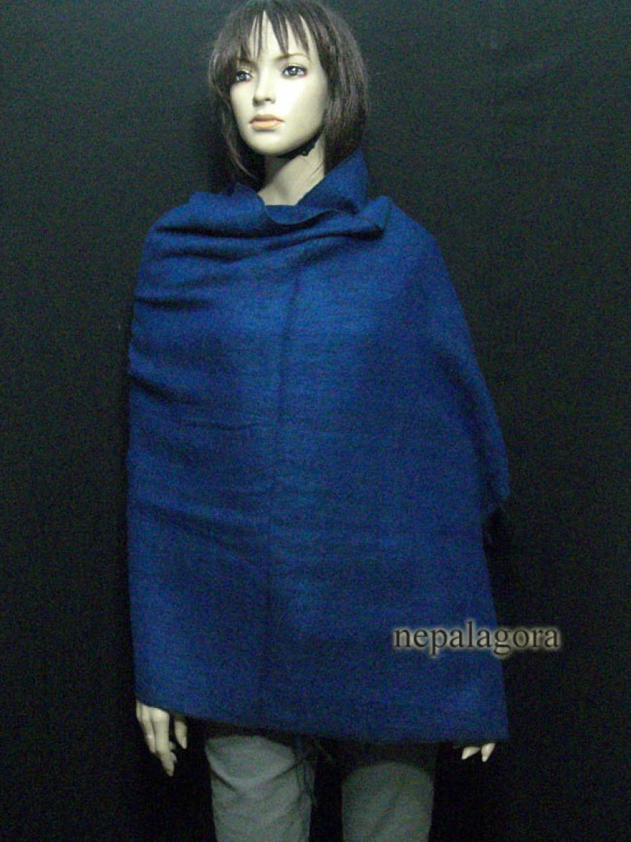 Handloom yak wool wrap reversible shawl - Sw69