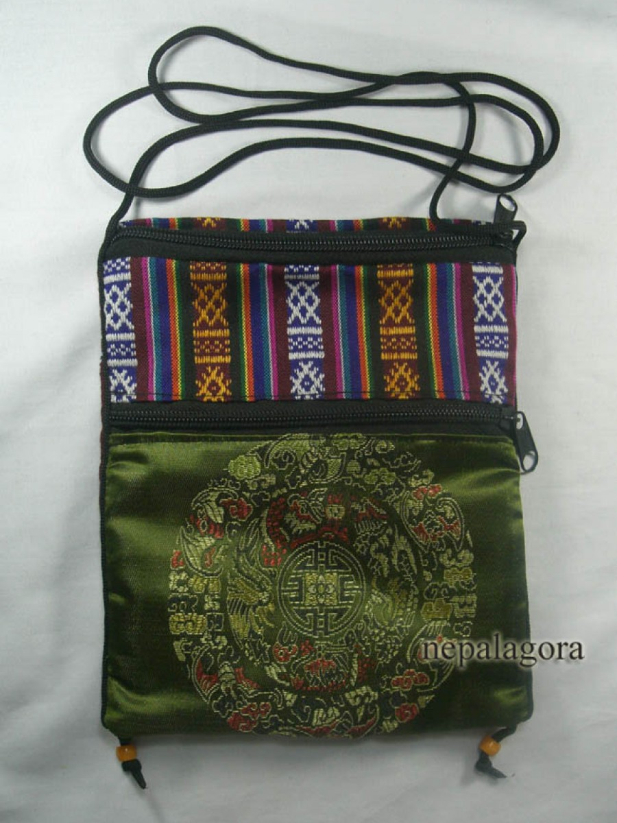 Mandala embroidery purse passport bag - Pur504