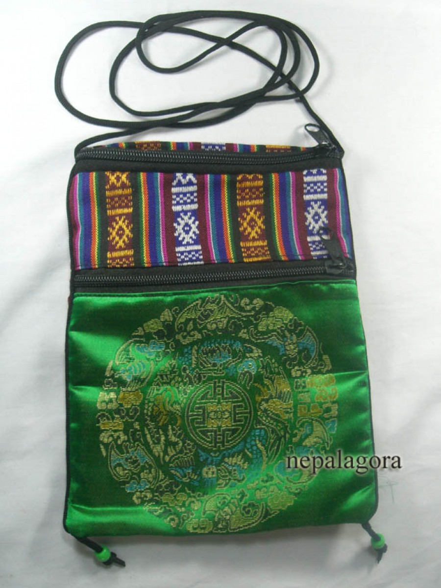 Mandala embroidery purse passport bag - Pur505