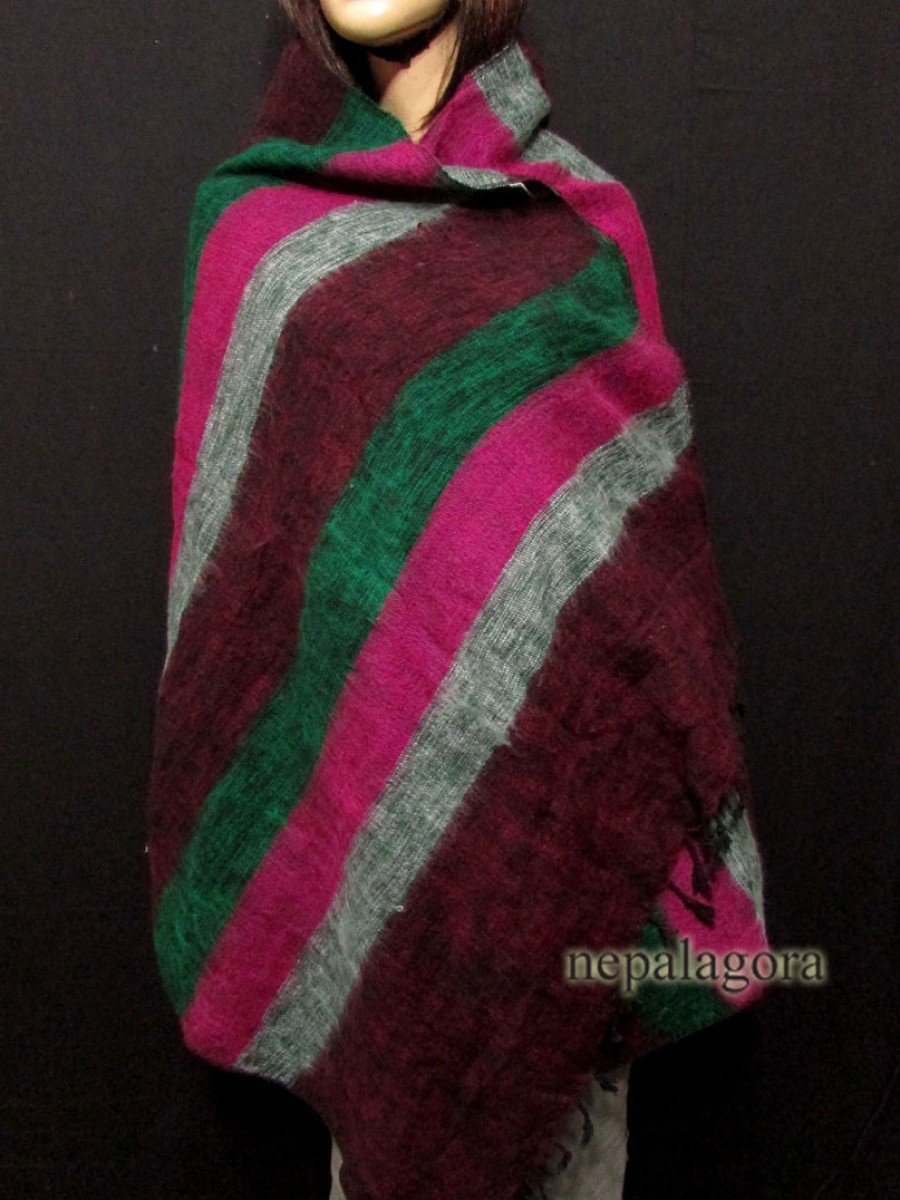 MIx Yak wool wrap stole Multicolor - Sw115