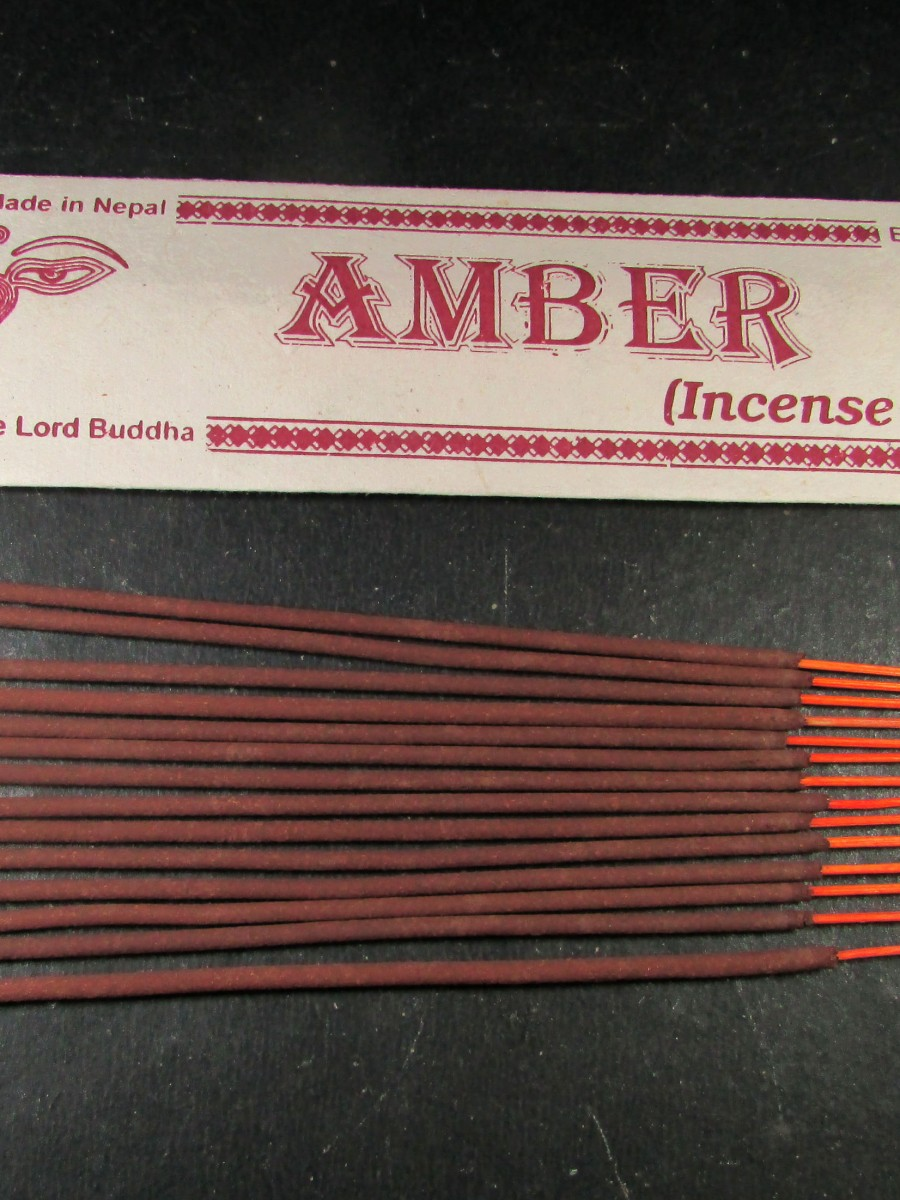 Natural Amber Aroma Incense Sticks Nepal - IN43