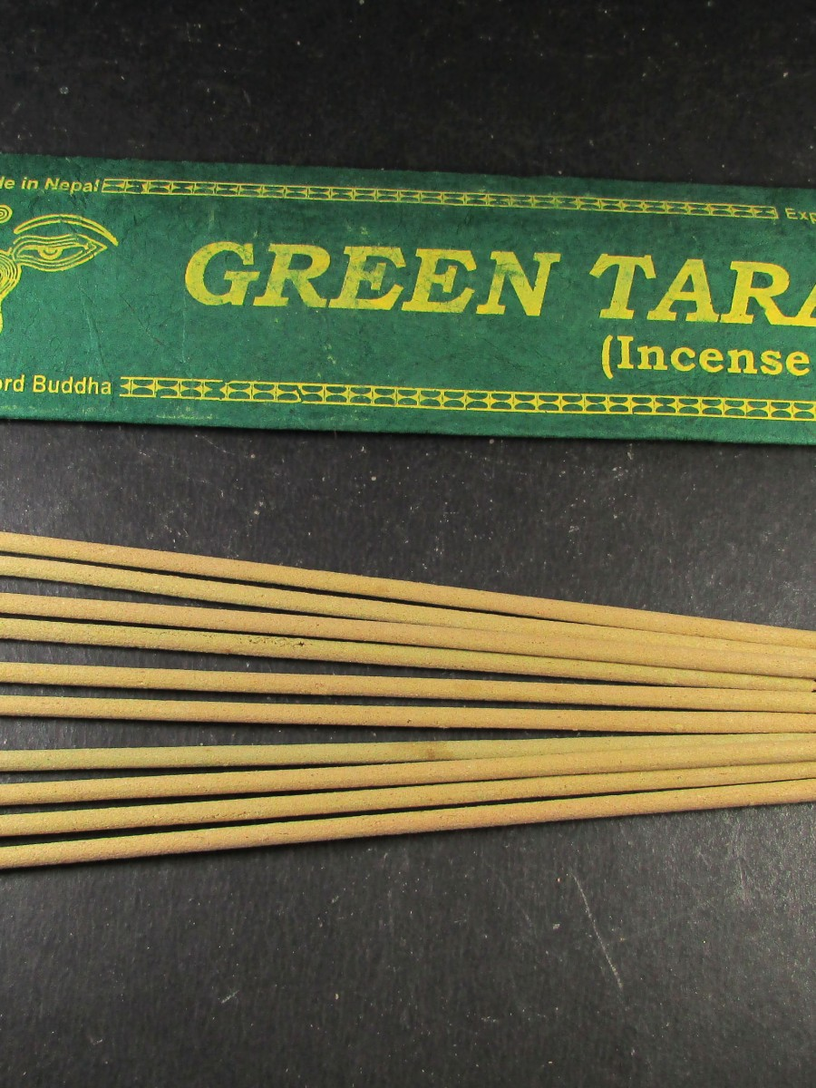 Natural Green Tara Incense Sticks Nepal - IN32