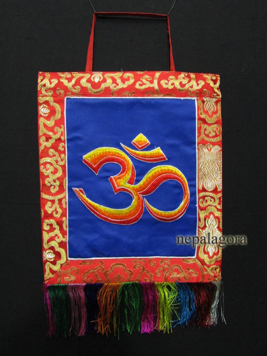 Om Embroidery Wall Hanging Thanka Nepal - Th92