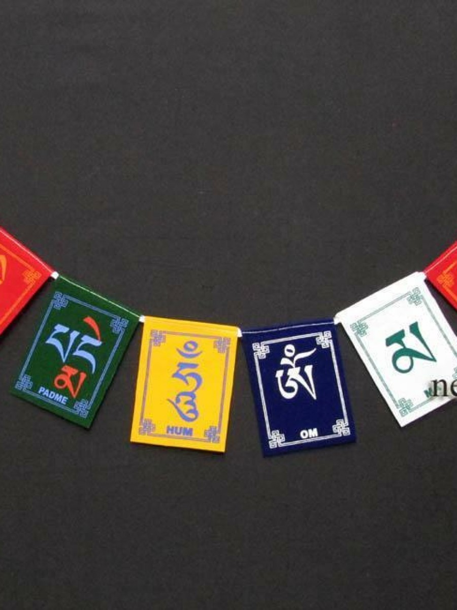 Om Mani Padme Hum Mantra Prayer Flags - PF90