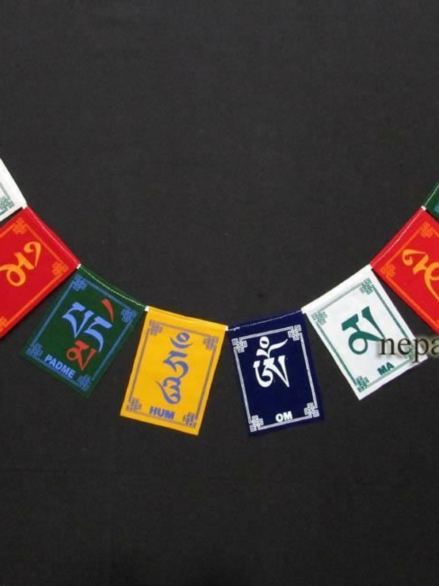 Om Mani Padme Hum Mantra Prayer Flags - PF91
