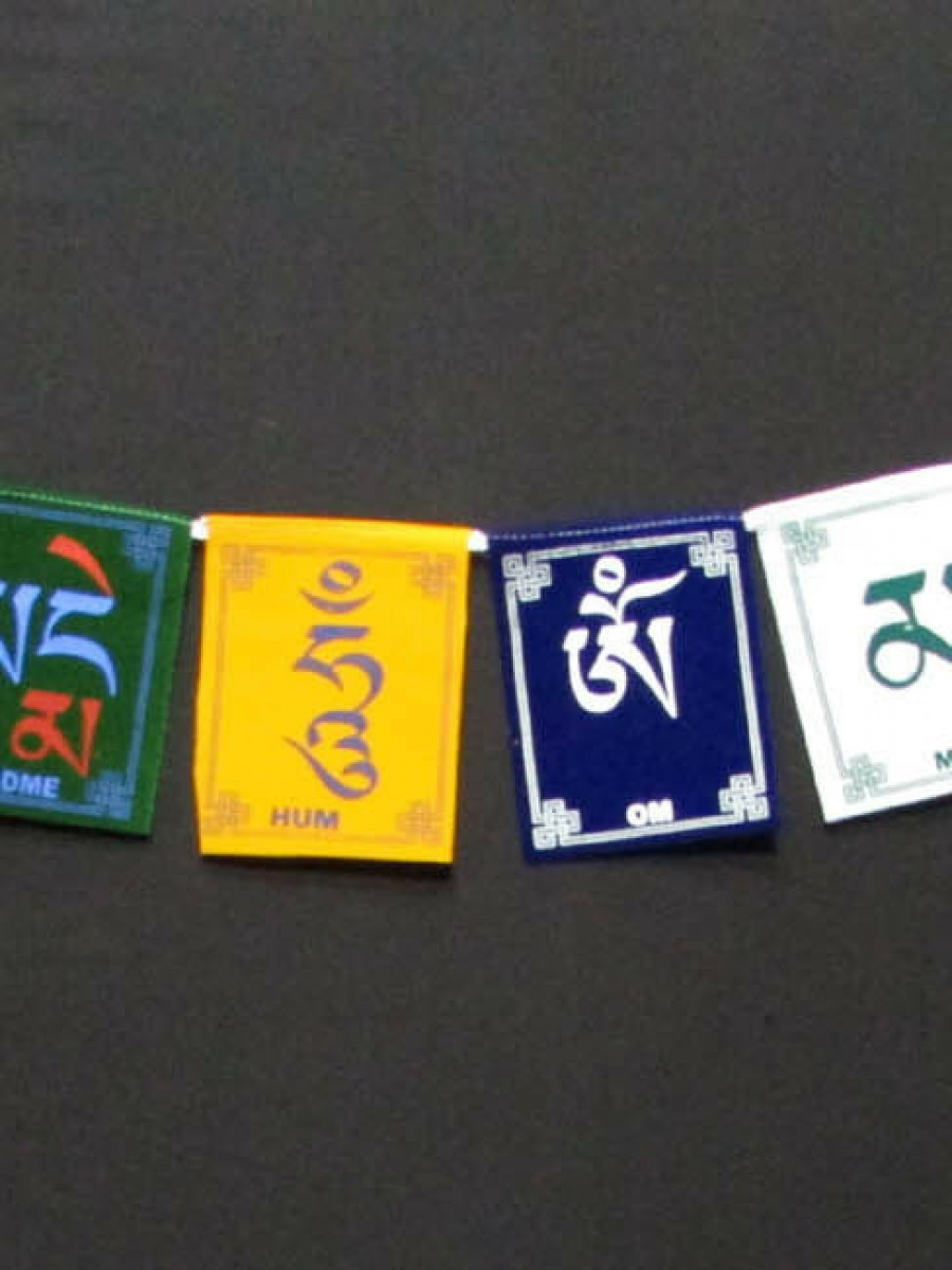 Om Mani Padme Hum Prayer Flags - PF89