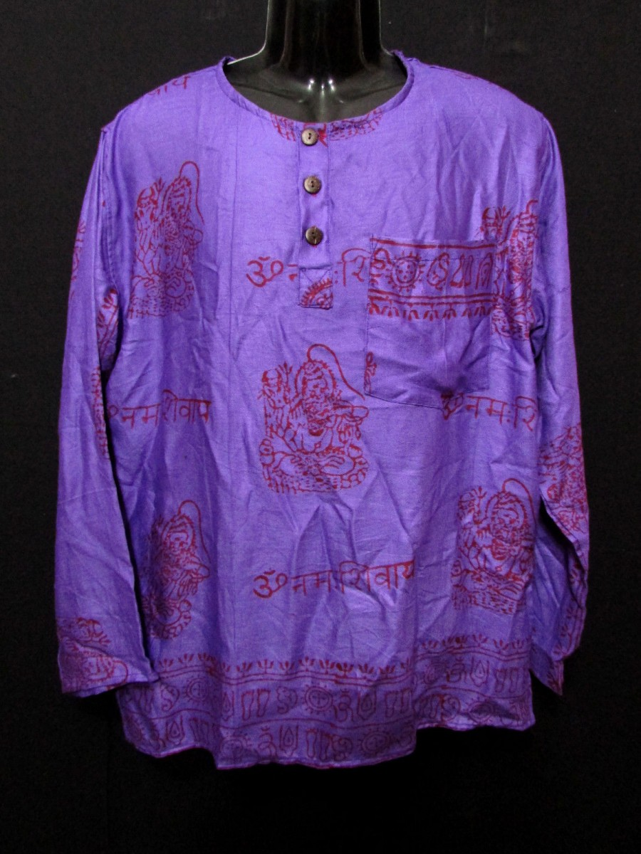 Om Namah Shiva Purple Shirt - Sh1003