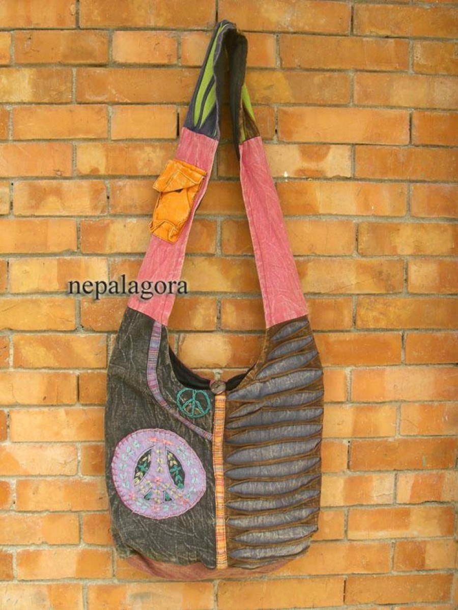 Patch crochet cotton boho Shoulder Bag - Bag133