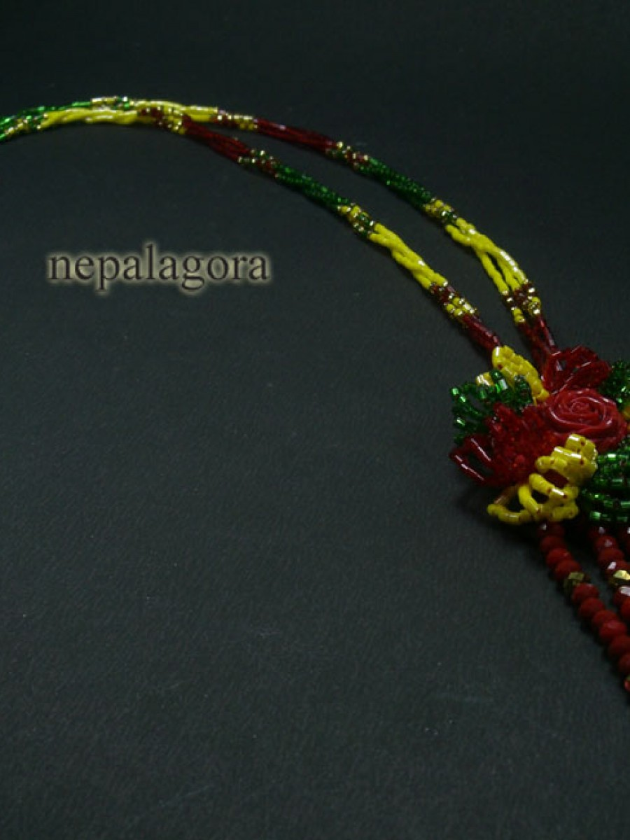 Pote mala strand glass bead Necklace - Nnp20