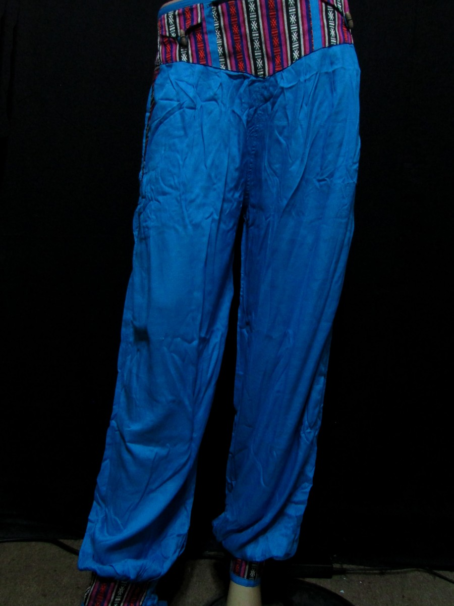 Rayon Ladies Bright Blue L PANT TROUSER - Tr401