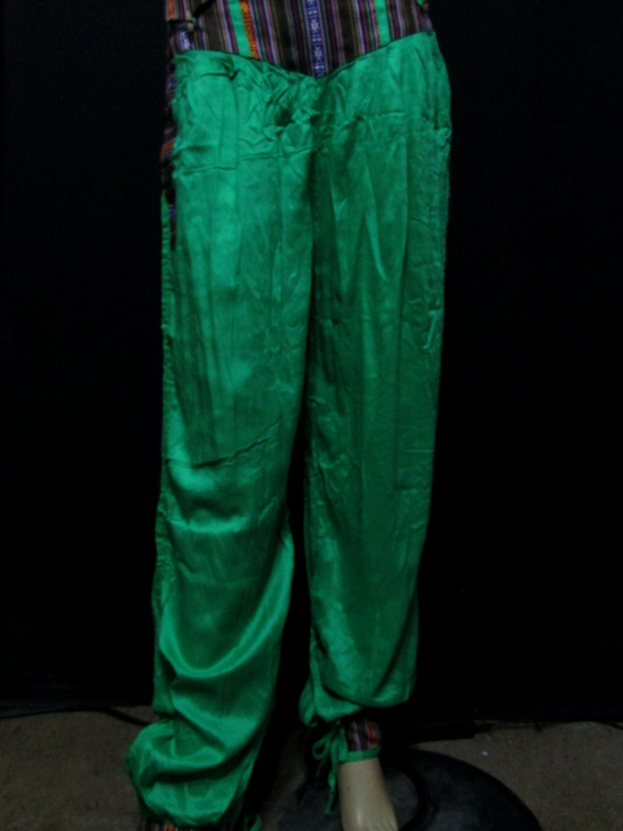 Rayon Ladies Green XL PANT TROUSER Nepal - Tr402
