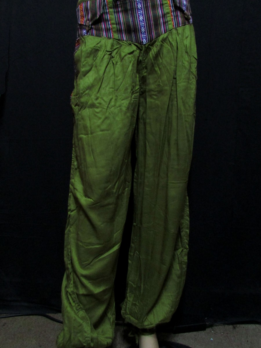 Rayon Ladies Olive color L PANT TROUSER - Tr403