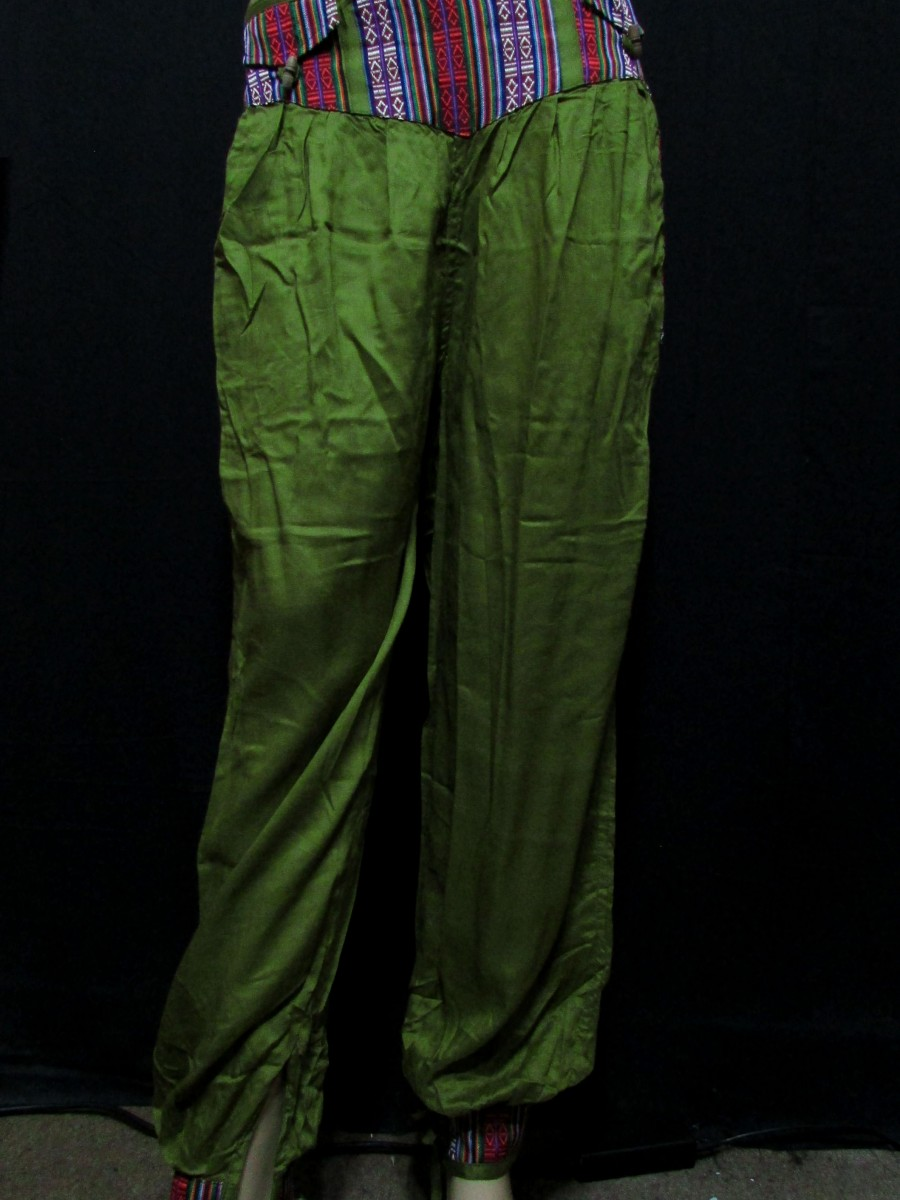 Rayon Olive color M PANT TROUSER Nepal - Tr405