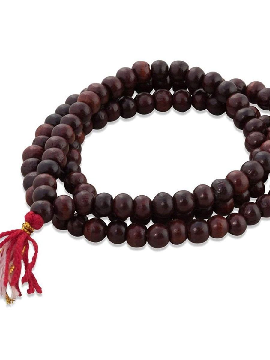 Rosewood Mala 108 Beads for Meditation India  - Mala06