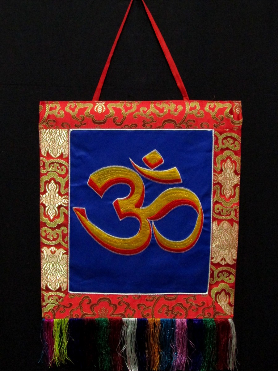 Sanskrit Om Wall Hanging Thanka Nepal - Th200