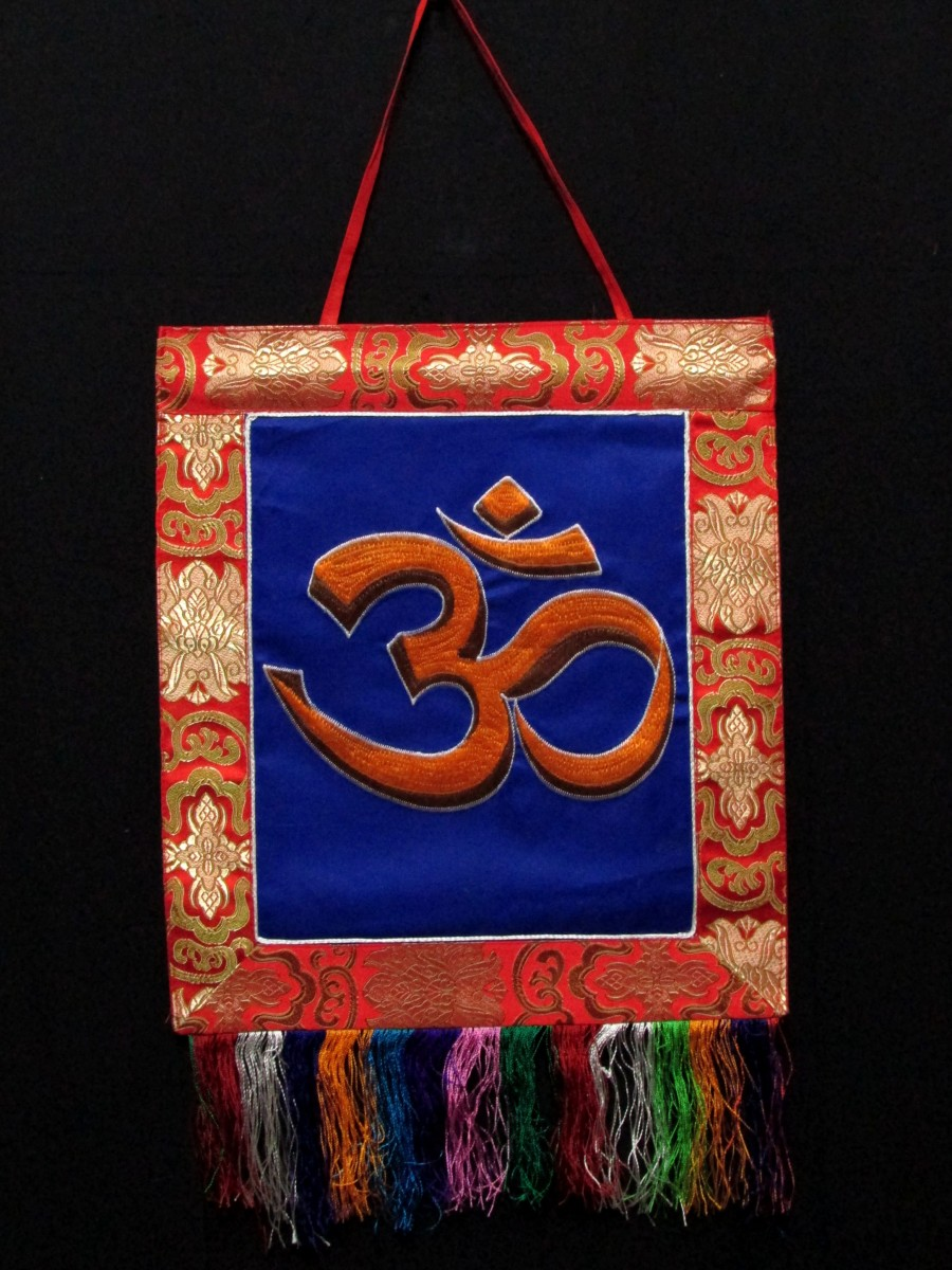Sanskrit Om Wall Hanging Thanka Nepal - Th201