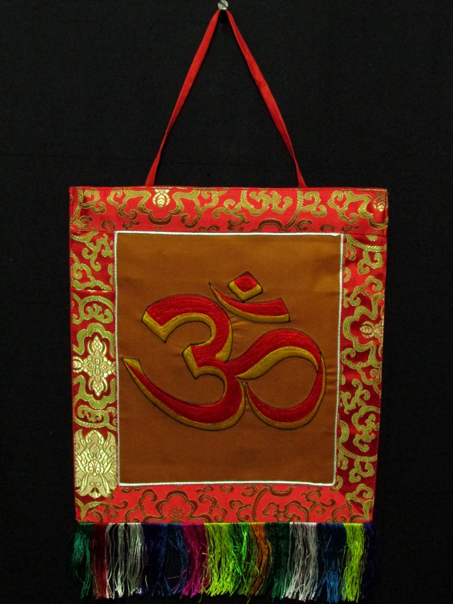Sanskrit Om Wall Hanging Thanka Nepal - Th207