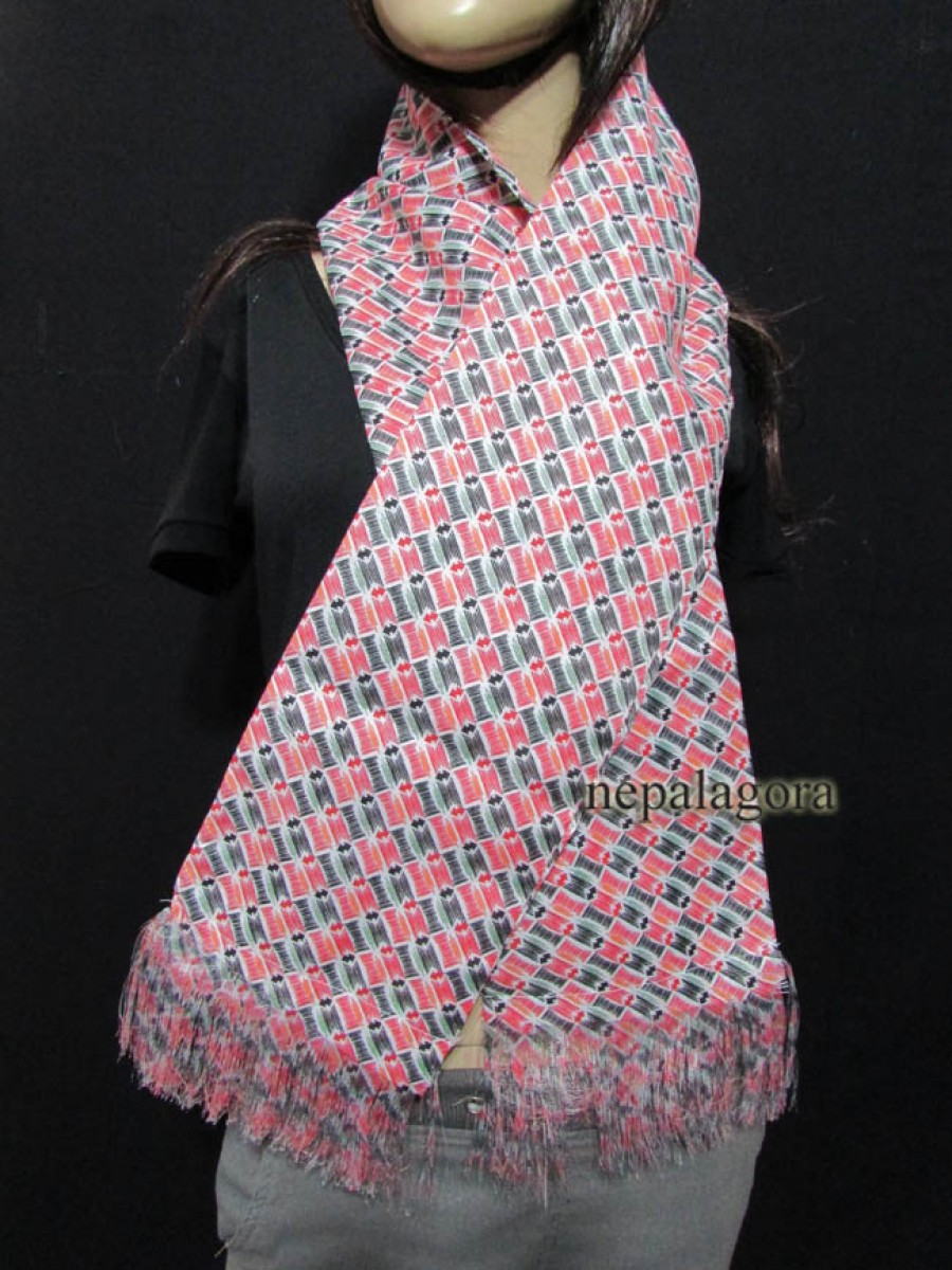 Tibetan Cotton Offering scarf Khada Khata - Sc03